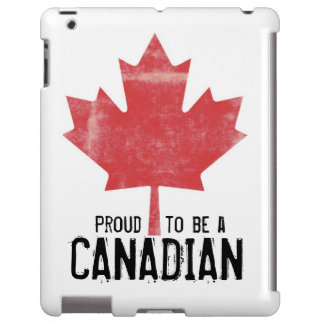 Proud to be Canadian Red Maple Leaf iPad Case