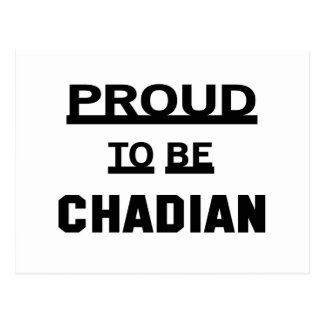 Proud to be Chadian. Postcard