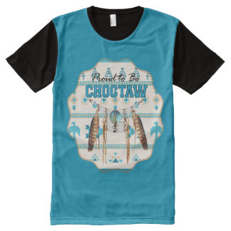 Proud to be Choctaw Thunderbird Panel T-shirt All-Over Print T-Shirt