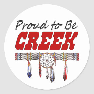 Proud To Be Creek Window Decal or Sticker Sheets Round Sticker