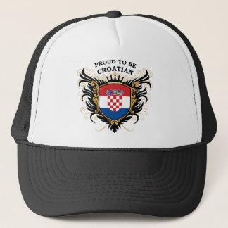 Proud to be Croatian Trucker Hat