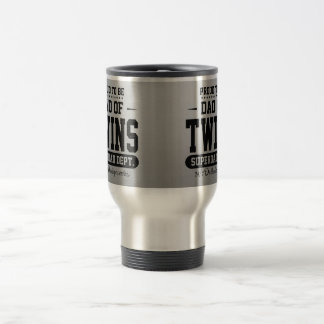 Proud To Be Dad Of Twins Superdad Dept. Stainless Steel Travel Mug