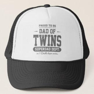 Proud To Be Dad Of Twins Superdad Dept. Trucker Hat