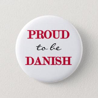 Proud To Be Danish 6 Cm Round Badge