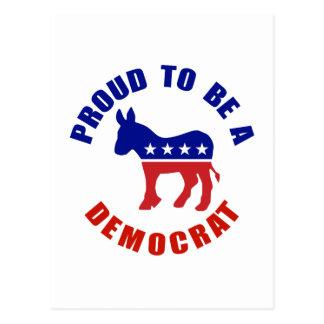 Proud To Be Democrat Original Postcard