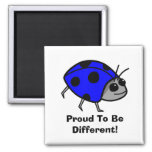 Proud To Be Different Blue Ladybug Refrigerator Magnets