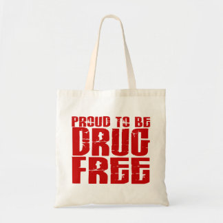 Proud To Be Drug Free 2 Budget Tote Bag