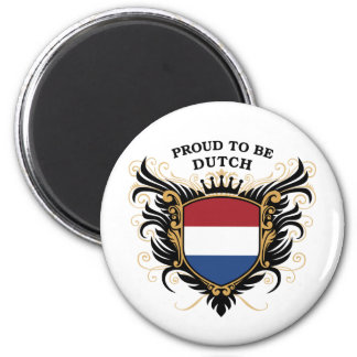 Proud to be Dutch 6 Cm Round Magnet