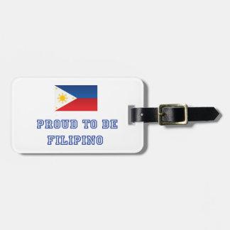 Proud to be Filipino 2 Luggage Tag