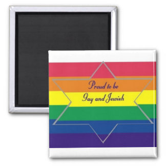 Proud to be Gay & Jewish Magnet