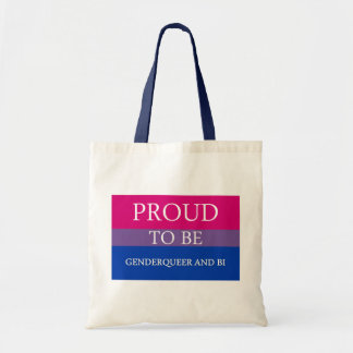 Proud to Be Genderqueer and Bi Canvas Bag