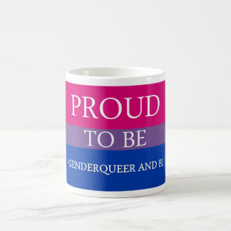 Proud to Be Genderqueer and Bi Basic White Mug