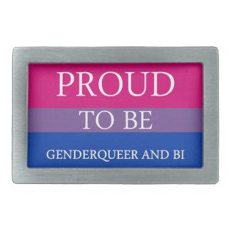 Proud to Be Genderqueer and Bi Belt Buckles