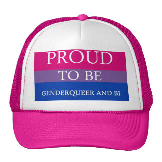Proud to Be Genderqueer and Bi Trucker Hats