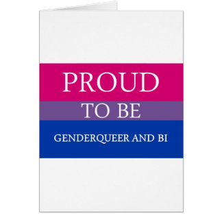 Proud to Be Genderqueer and Bi Cards