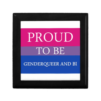 Proud to Be Genderqueer and Bi Gift Box