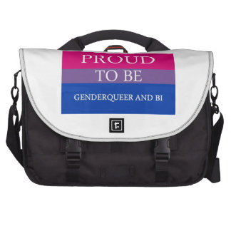 Proud to Be Genderqueer and Bi Bags For Laptop