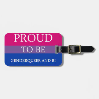 Proud to Be Genderqueer and Bi Tags For Bags