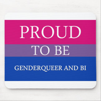 Proud to Be Genderqueer and Bi Mousepads