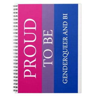 Proud to Be Genderqueer and Bi Notebook
