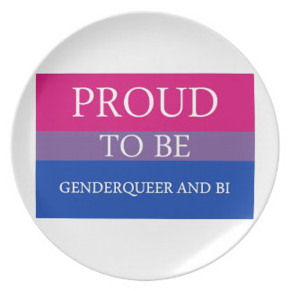 Proud to Be Genderqueer and Bi Plates