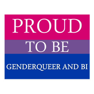 Proud to Be Genderqueer and Bi Postcard