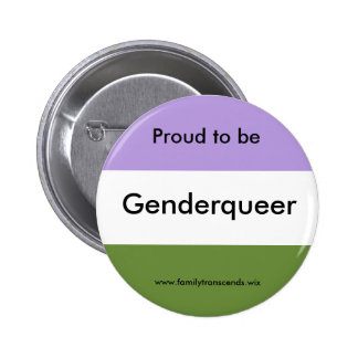 Proud to be Genderqueer Button