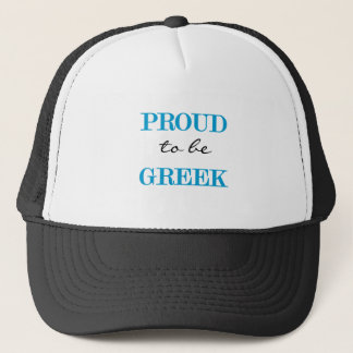 Proud To Be Greek Trucker Hat