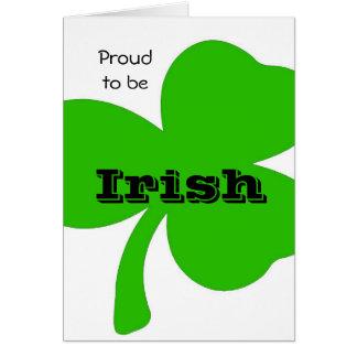 Proud to be Irish Card. Greeting Card