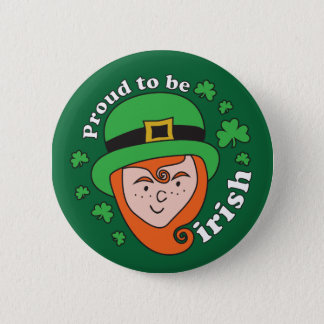 Proud to be Irish - Leprechaun Button