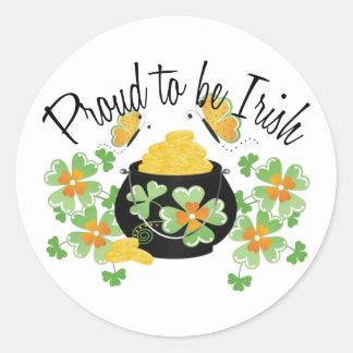 Proud To Be Irish Pot of Gold Sticker