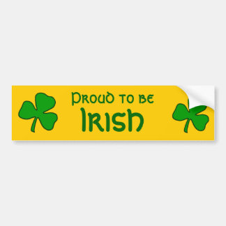 Proud to be Irish Shamrock Bumper Sticker