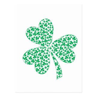 Proud To Be Irish - St Pattys Shamrock Post Card