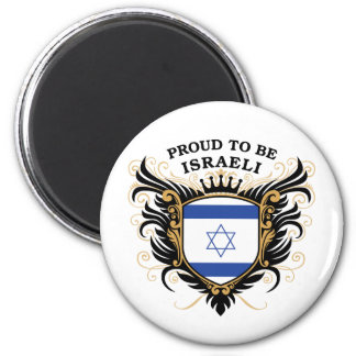 Proud to be Israeli 6 Cm Round Magnet
