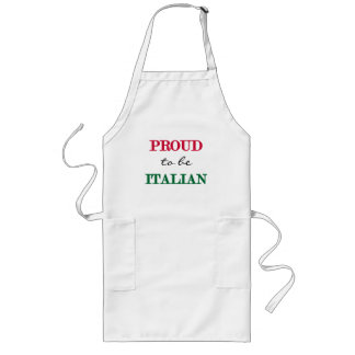Proud To Be Italian Long Apron
