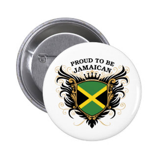 Proud to be Jamaican 6 Cm Round Badge