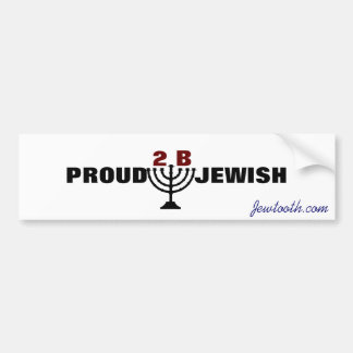 Proud to be Jewish! Bumper Sticker