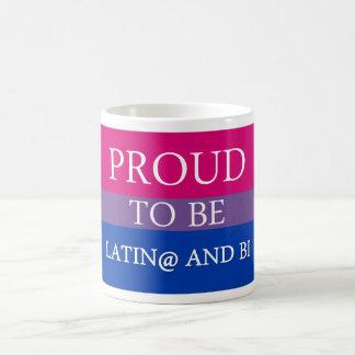 Proud to be Latin@ and Bi Basic White Mug