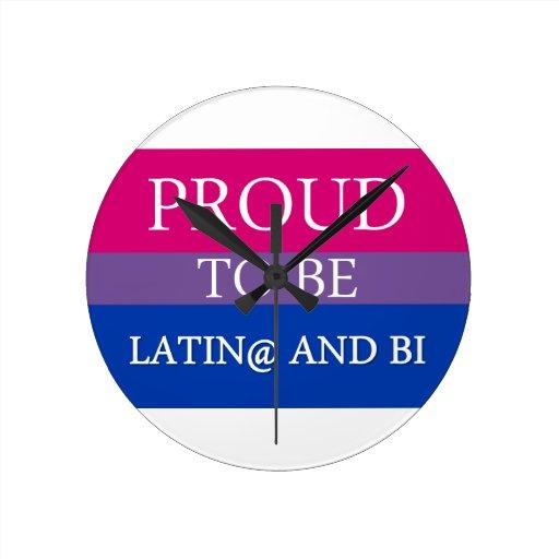 Proud to be Latin@ and Bi Round Wallclock
