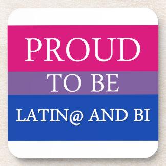 Proud to be Latin and Bi Coasters