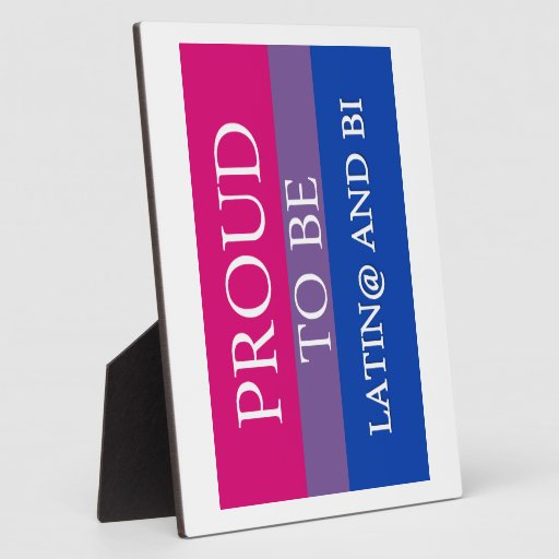 Proud to be Latin@ and Bi Photo Plaque