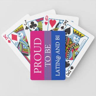 Proud to be Latin and Bi Deck Of Cards