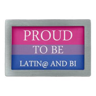 Proud to be Latin@ and Bi Rectangular Belt Buckles