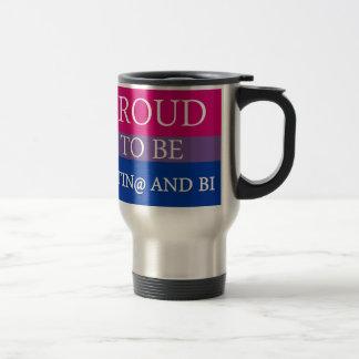 Proud to be Latin@ and Bi Stainless Steel Travel Mug