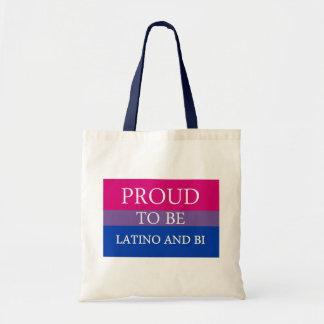 Proud To Be Latino and Bi Tote Bag