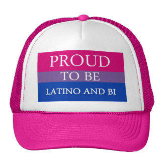 Proud To Be Latino and Bi Hats