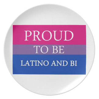 Proud To Be Latino and Bi Dinner Plate