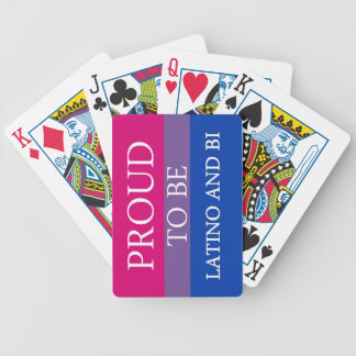 Proud To Be Latino and Bi Deck Of Cards
