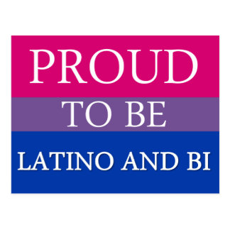 Proud To Be Latino and Bi Postcard