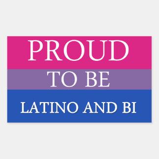 Proud To Be Latino and Bi Rectangular Sticker